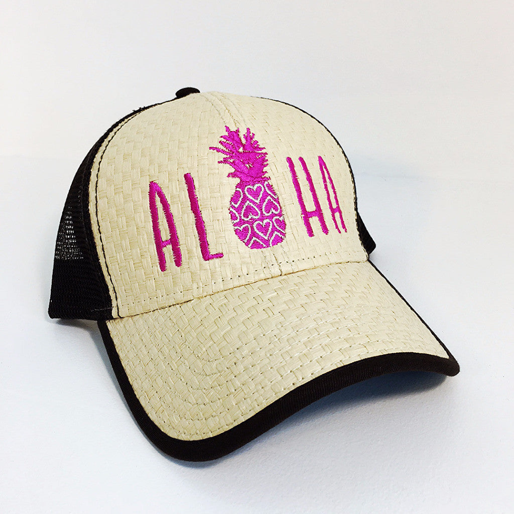 """Lauhala"" Hearts and Pineapple Trucker"