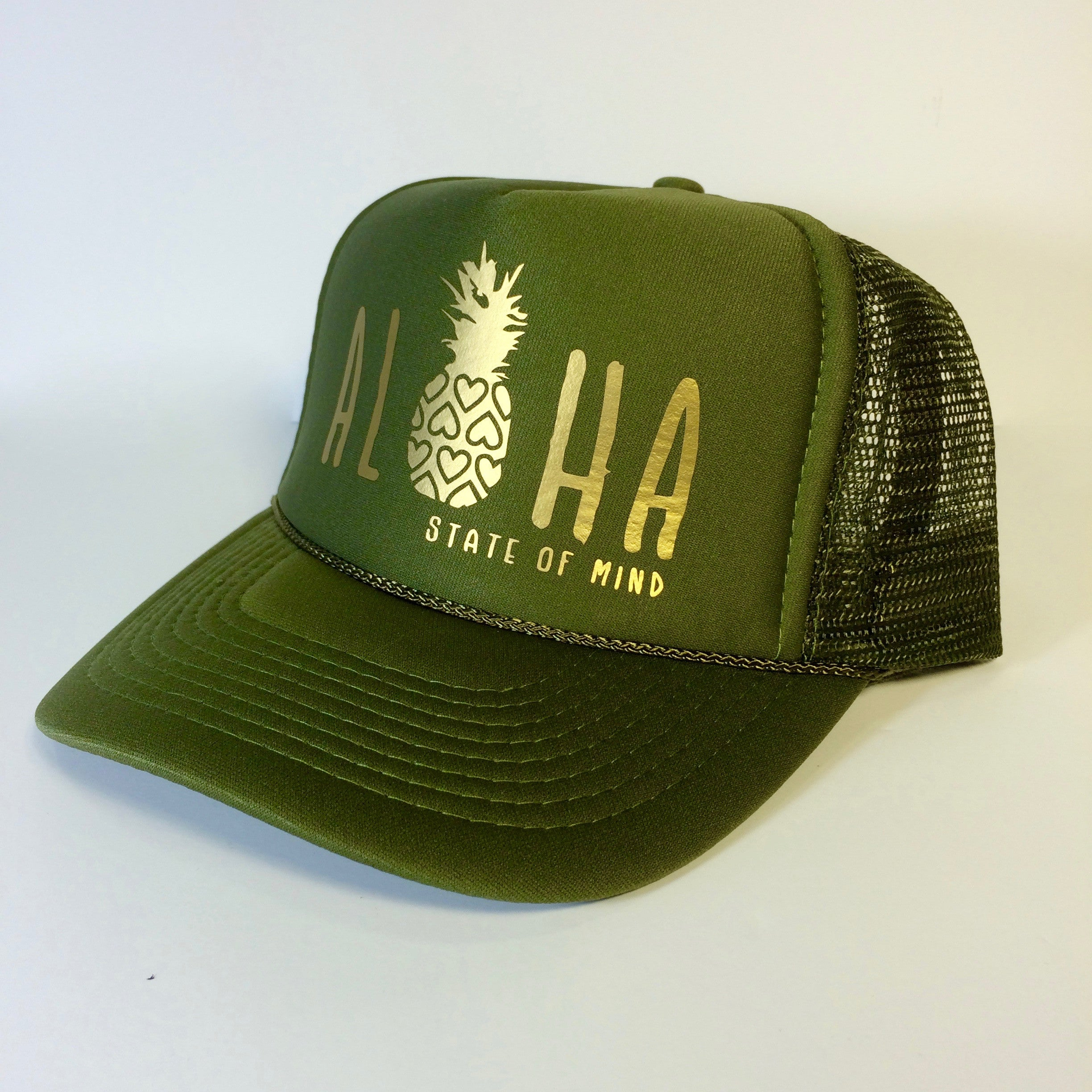 Aloha Hearts & Pineapple Trucker