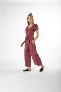 RAINEY JUMPSUIT DUSTY PLUM