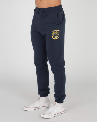 MAD HUEYS RETRO ANCHOR TRACKPANT CHAR MARLE