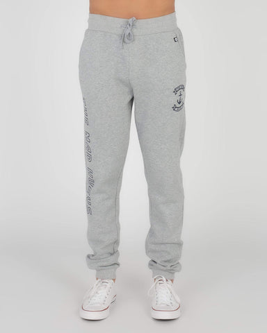 MAD HUEYS RETRO ANCHOR TRACKPANT GREY MARLE
