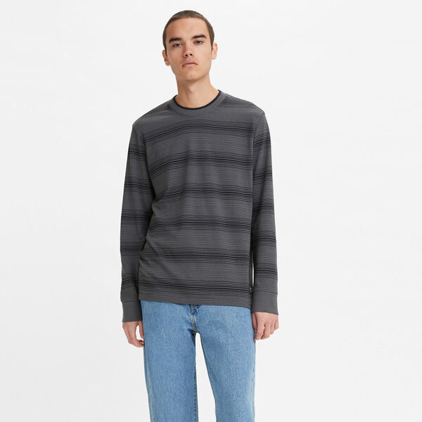 LEVI'S TIPPED CREWNECK TEE TOYON GREY ORE