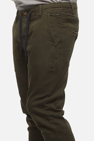INDUSTRIE THE DRIFTER CHINO PANT ARMY GREEN