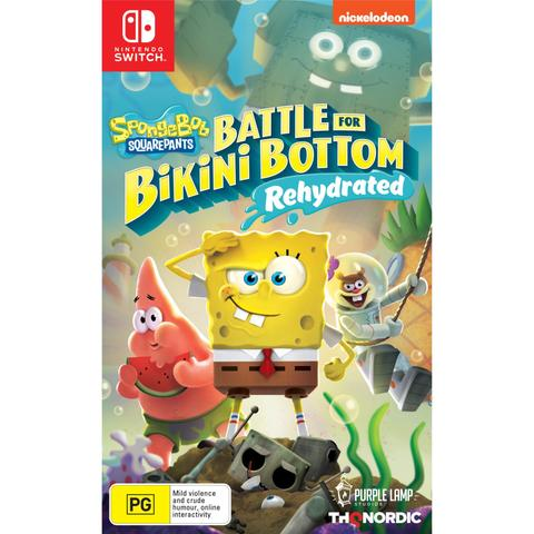 NINTENDO SWITCH SPONGEBOB SQUAREPANTS BATTLE FOR BIKINI BOTTOM REHYDRATED