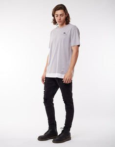 SILENT THEORY FALSE LAYERED TEE GREY
