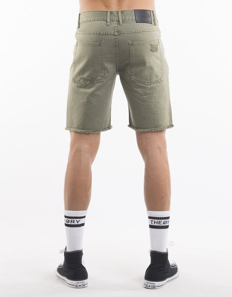SILENT THEORY RAMBLE RIPPED SHORT KHAKI