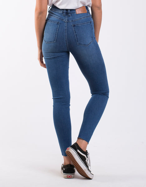 SILENT THEORY VICE HIGH SKINNY JEAN BLUE DIME
