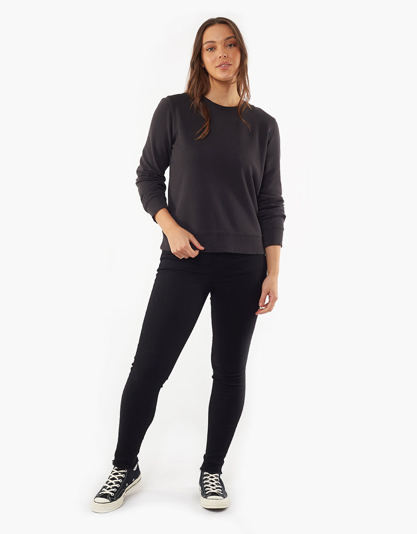 ALL ABOUT EVE ESSENTIAL CREW BLACK