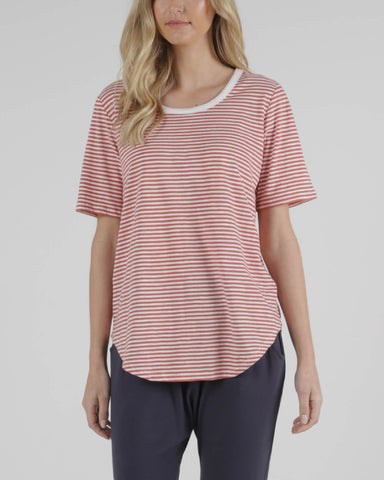 BETTY BASICS ARIANA TEE TANGELLO STRIPE