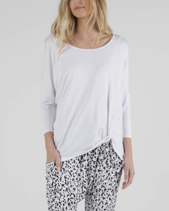 BETTY BASICS ATLANTA 3/4 SLEEVE TOP WHITE