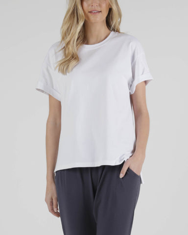 BETTY BASICS BOXY TEE WHITE