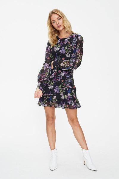 LE JARDIN LONG SLEEVE MINI DRESS
