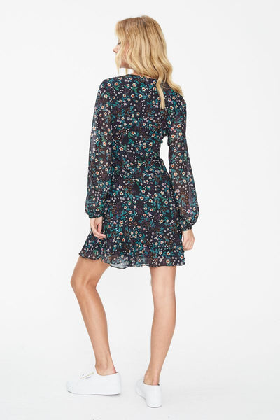 NIGHTBIRD LONG SLEEVE MINI DRESS