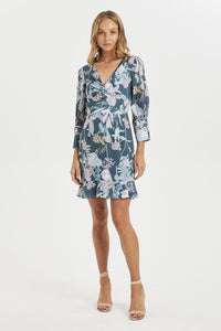 PINE GROVE TWIST MINI DRESS