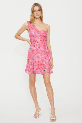 COOPER ST STELLA ONE SHOULDER MINI DRESS