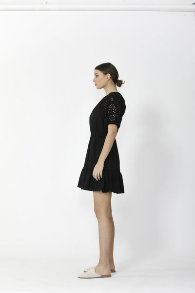 SASS ELODIE DRESS BLACK