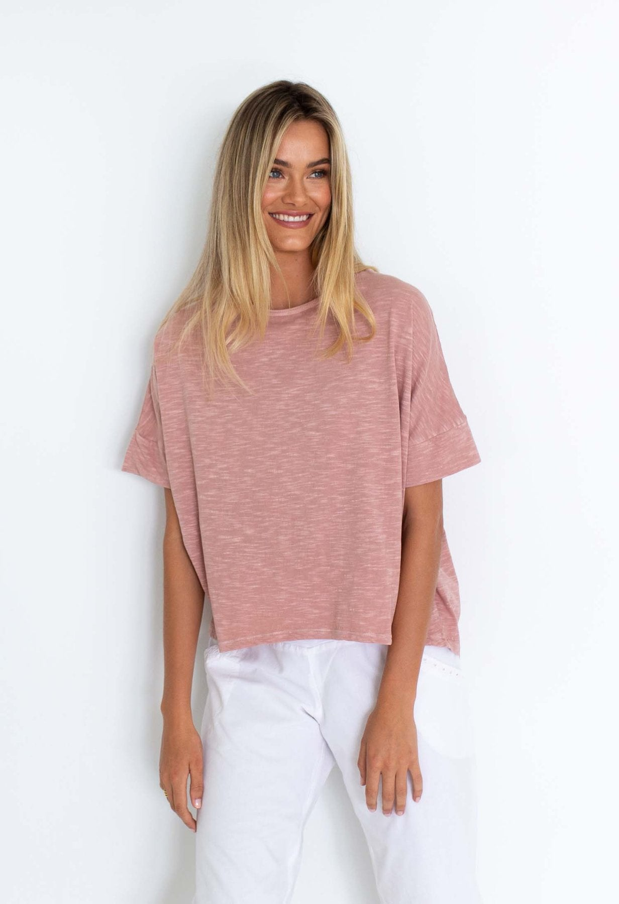 HUMIDITY DIPPY TEE ROSE