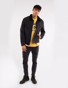 SILENT THEORY JEFF SHERPA JACKET WASHED BLACK