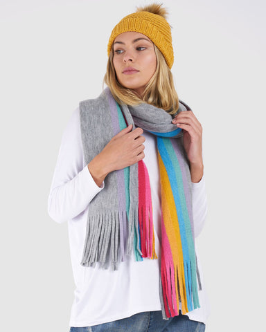BETTY BASICS JUNO SCARF RAINBOW