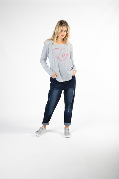 BETTY BASICS MEGAN LONG SLEEVE TOP LOVER