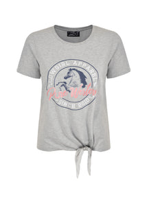 PURE WESTERN WOMENS HEATHER SIDETIE TEE