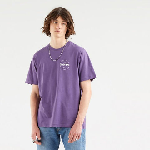 LEVI'S RELAXED FIT TEE CORE LOGO LOGANBERRY