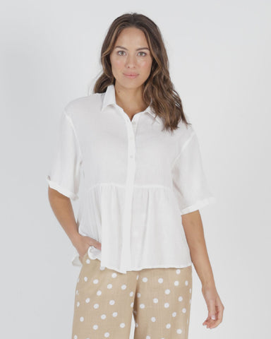 BETTY BASICS ROSS SHIRT WHITE