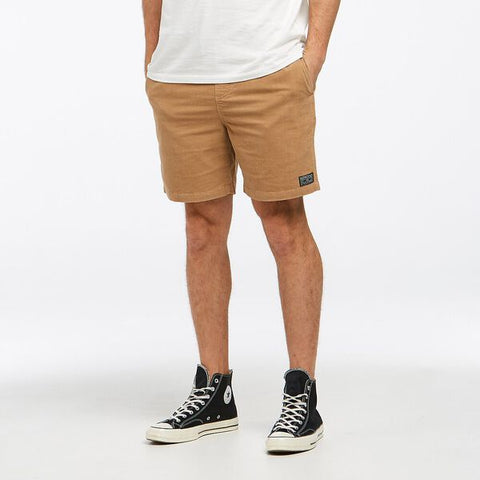 RIDERS CORD DRAWSTRING WALK SHORT SANDSTROM