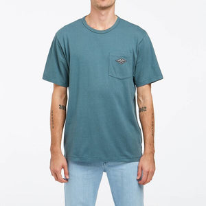RIDERS RELAXED POCKET TEE SEA FOAM