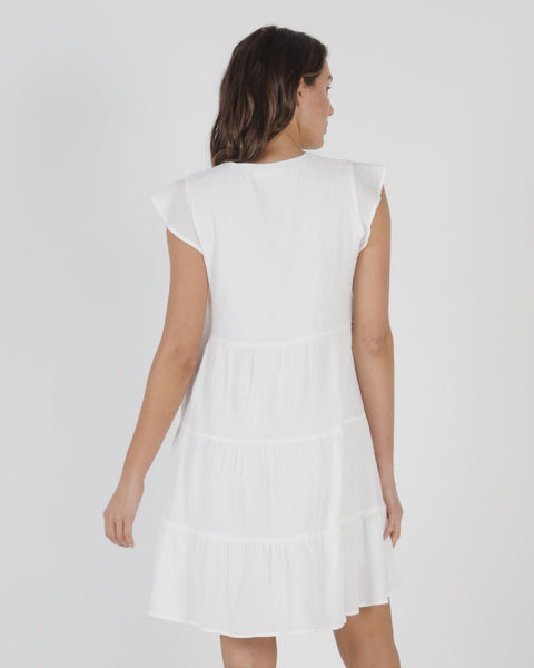 BETTY BASICS SKYLER DRESS WHITE