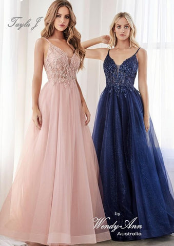 T4510 Blush, Champagne, Navy + Smokey Blue