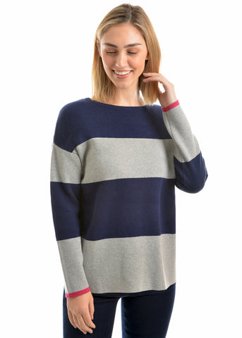 THOMAS COOK BLOCK STRIPED JUMPER