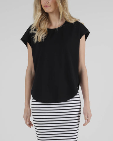 BETTY BASICS TULIP TOP BLACK