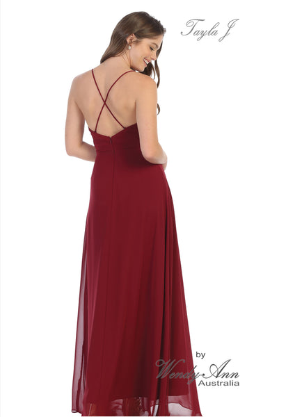T1433 (BLUSH, BURGUNDY, DUSTY BLUE, NAVY + SILVER)
