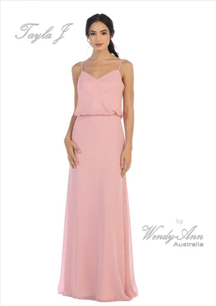 T8133 (BLUSH, BURGUNDY, CHAMPAGNE, DUST BLUE, DUST ROSE, HUNTER GREEN, MAUVE, NAVY, SAGE + SILVER)
