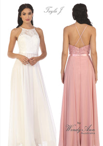 T6123 (BLUSH, BURGUNDY, DUST ROSE, LILAC, MAUVE, NAVY, OFF WHITE, ROYAL, SAGE + SILVER)