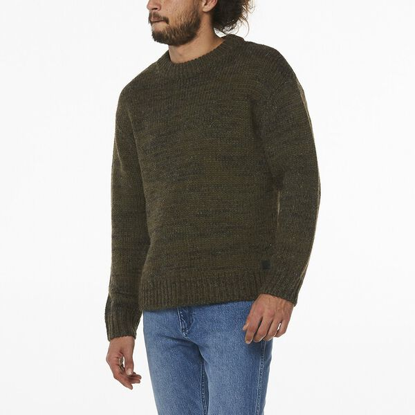 WRANGLER GARAGE SWEATER WINTER MOSS