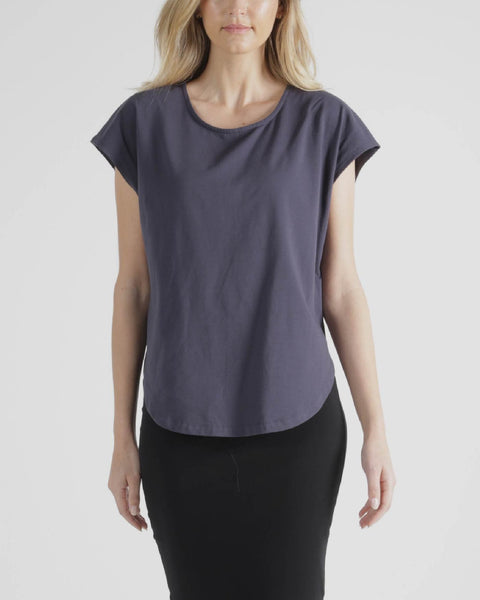 BETTY BASICS TULIP TOP BLUE STONE