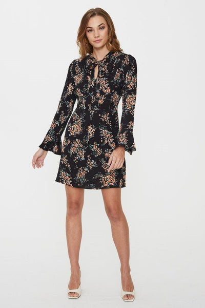 GREENWICH LONG SLEEVE MINI DRESS