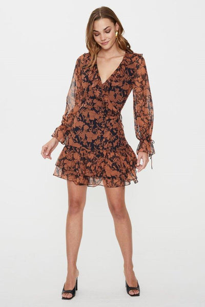COOPER ST CHELSEA WRAP MINI DRESS