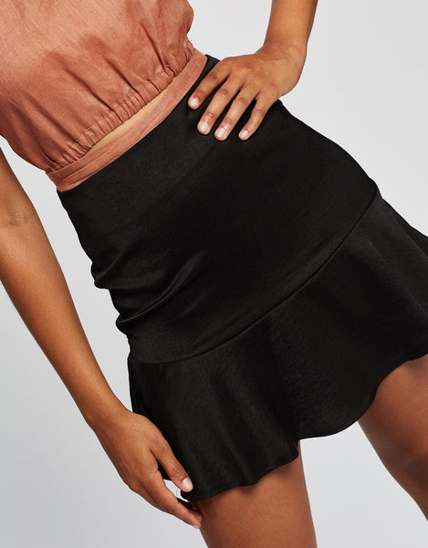 ALL ABOUT EVE NATALIE FLIPPY SKIRT BLACK