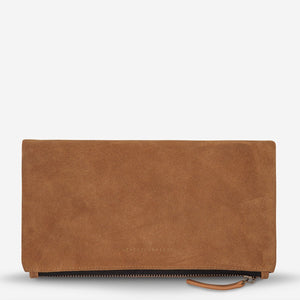 STATUS ANXIETY FEEL THE NIGHT CLUTCH TAN