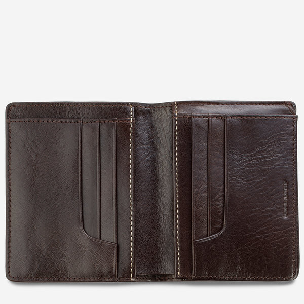 STATUS ANXIETY NATHANIEL WALLET CHOCOLATE