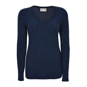 THOMAS COOK V NECK CABLE JUMPER 12
