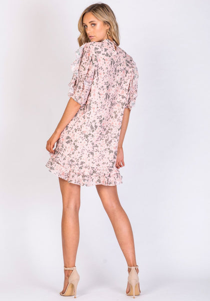 THREE OF SOMETHING BOARDWALK FLORAL HERMOSA DRESS