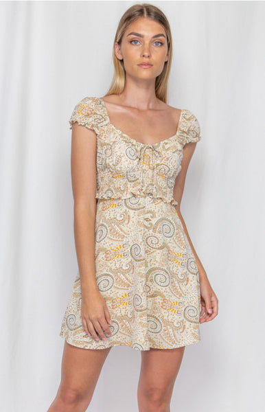WINNIE & CO BOHO DRESS BEIGE