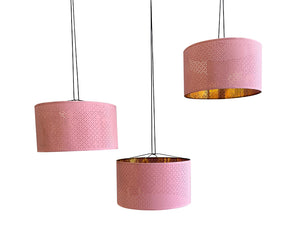 Pendant lamp shade ( Pink/Brass)