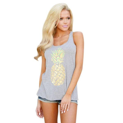 Pineapple Sleeveless Tank Top