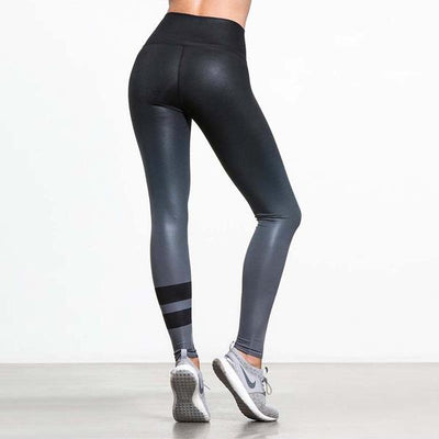 Color Fade Stripe Leggings
