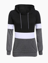 Black Color Block Hoodie